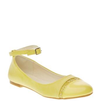 Žlté balerínky s remienkom mini-b, žltá, 321-8181 - 13