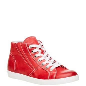 Kožené členkové tenisky bata, červená, 524-5310 - 13