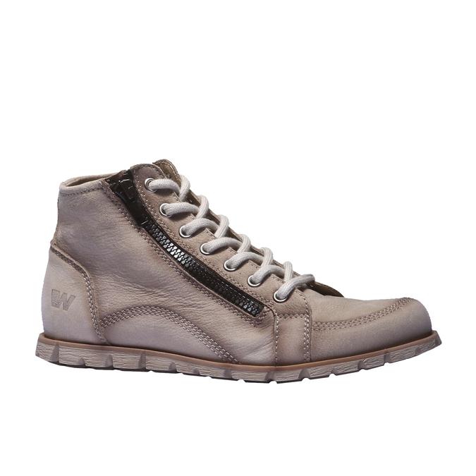 Dizajnová kožená obuv weinbrenner, šedá, hnedá, 544-2145 - 13