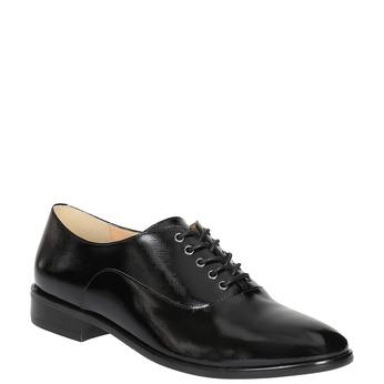 Dámske kožené poltopánky bata, čierna, 528-6631 - 13