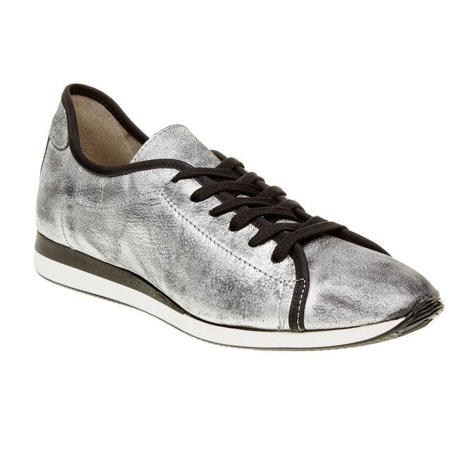 Strieborné kožené tenisky bata, strieborná, 526-1131 - 13