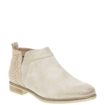Jarné členkové čižmy bata, biela, 591-8100 - 13