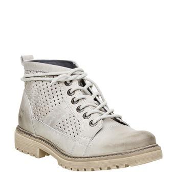 Kožené členkové topánky weinbrenner, šedá, 594-2138 - 13