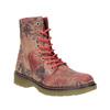 Kožená členková obuv s kvetinovým vzorom bata, ružová, 596-5609 - 13