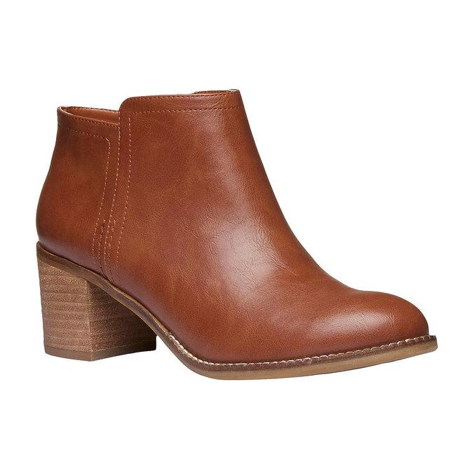 Členkové čižmy na širokom podpätku bata, hnedá, 691-3271 - 13