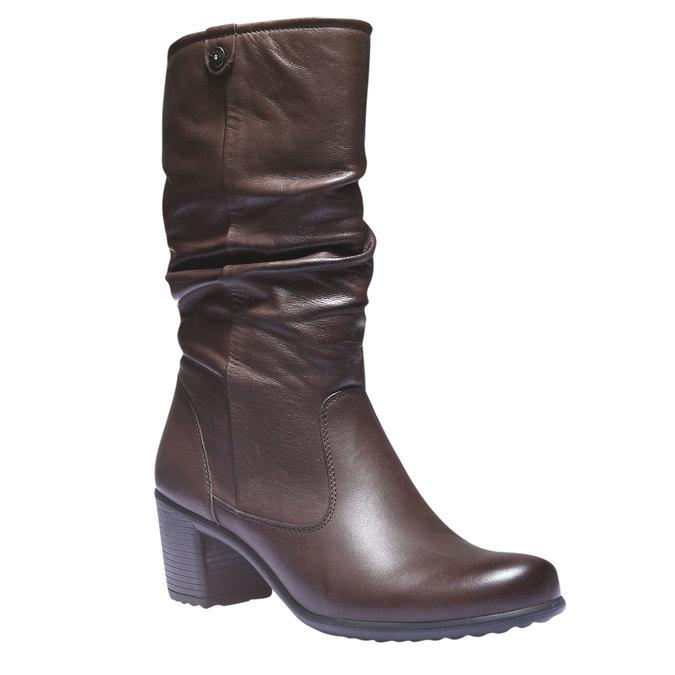 Kožené čižmy bata, hnedá, 694-4112 - 13