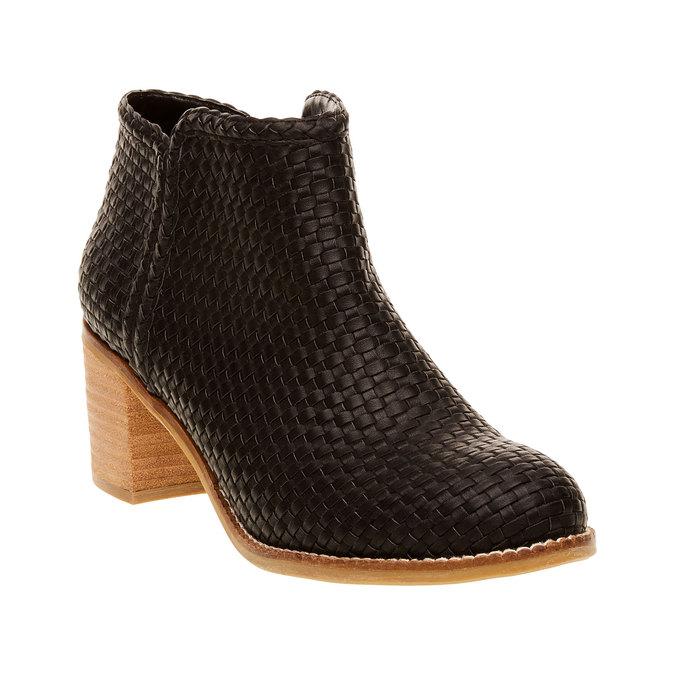 Členkové čižmy v pletenom designe bata, čierna, 691-6273 - 13