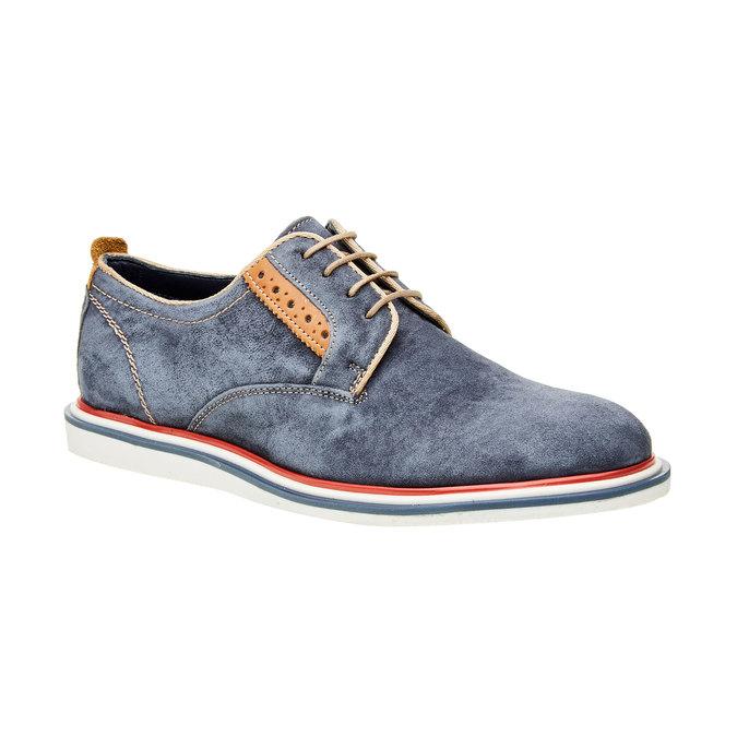 Pánske kožené poltopánky bata, modrá, 823-9814 - 13