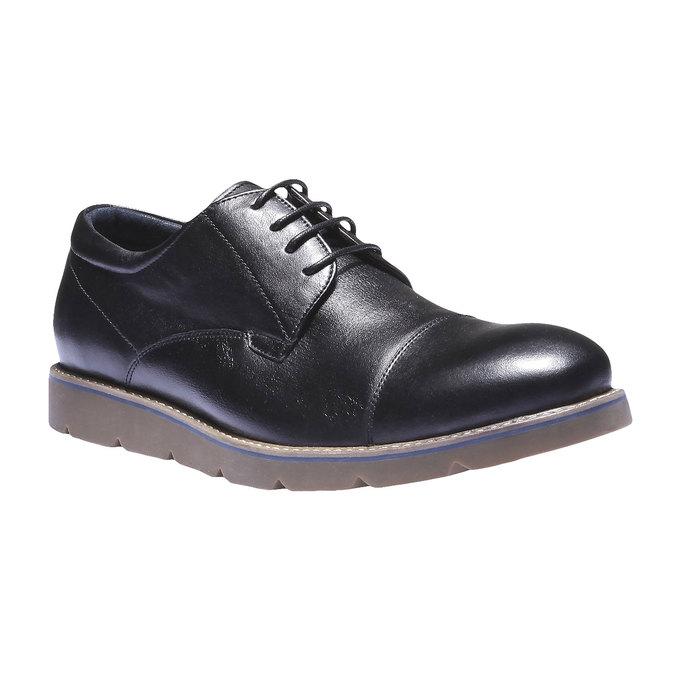 Poltopánky z kože bata, čierna, 824-6197 - 13