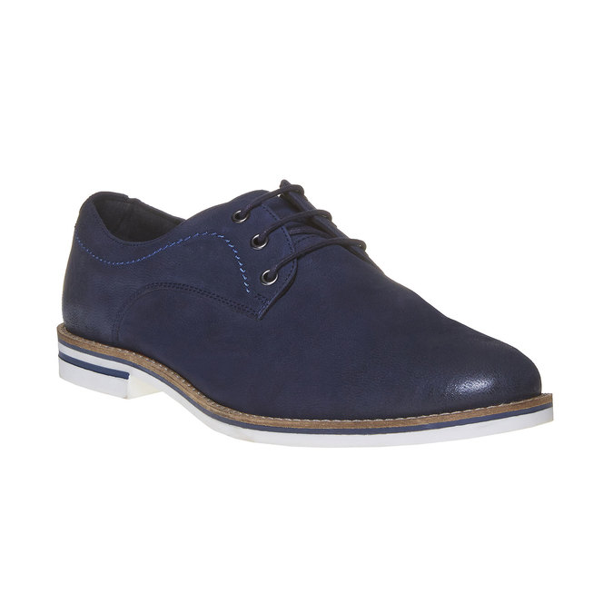 Ležérne kožené poltopánky bata, modrá, 826-9642 - 13