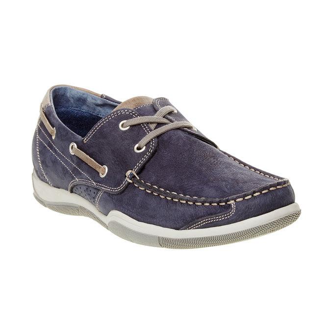 Ležérne kožené mokasíny bata, modrá, 856-9176 - 13