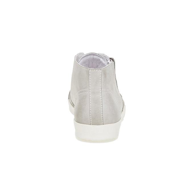 Kožené členkové tenisky bata, biela, 524-1310 - 17