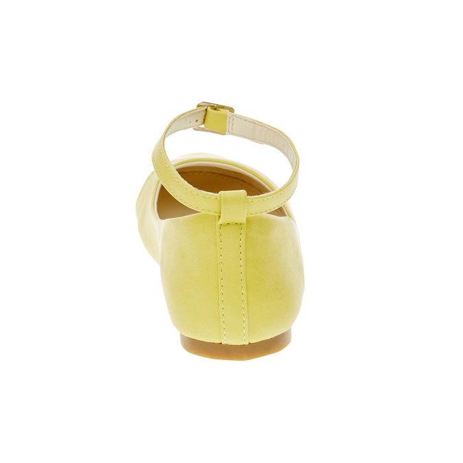 Žlté balerínky s remienkom mini-b, žltá, 321-8181 - 17