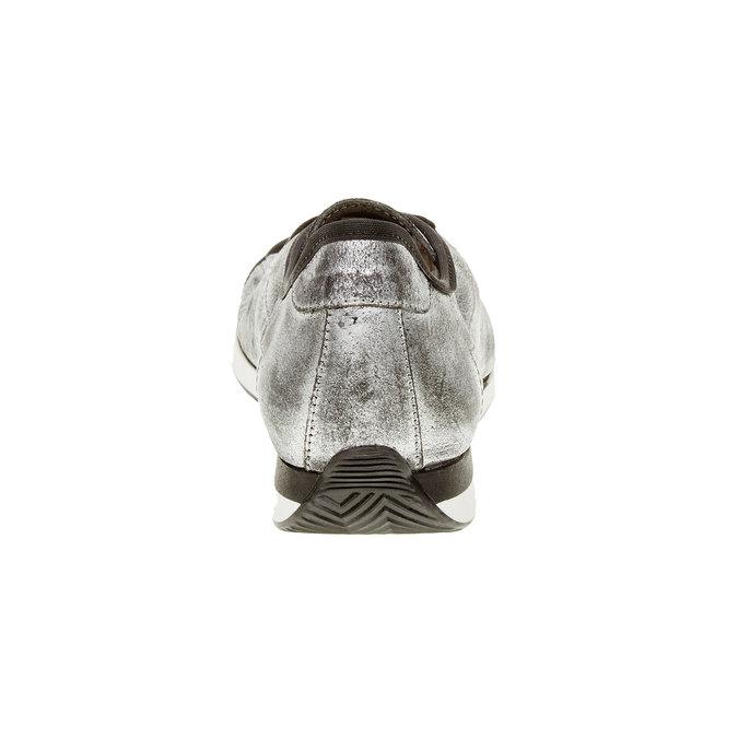 Strieborné kožené tenisky bata, strieborná, 526-1131 - 17