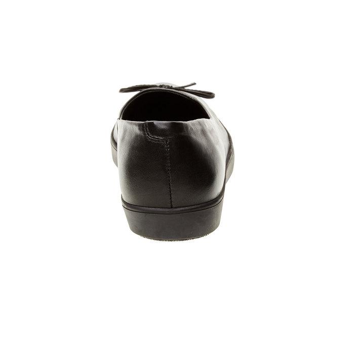 Kožené baleríny bata, čierna, 524-6464 - 17