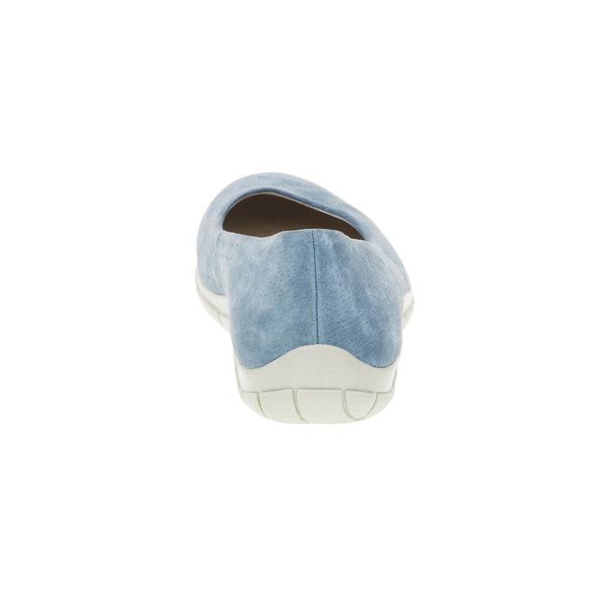 Ležérne kožené baleríny weinbrenner, modrá, 526-9103 - 17
