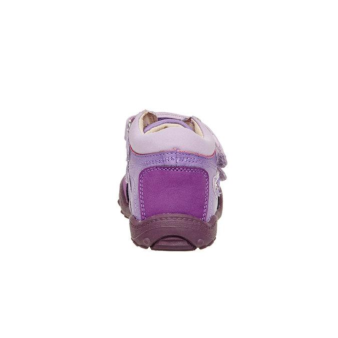 Dievčenské členkové topánky mini-b, fialová, 121-9104 - 17