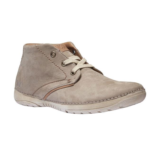 Kožená členková obuv weinbrenner, béžová, 896-2442 - 13