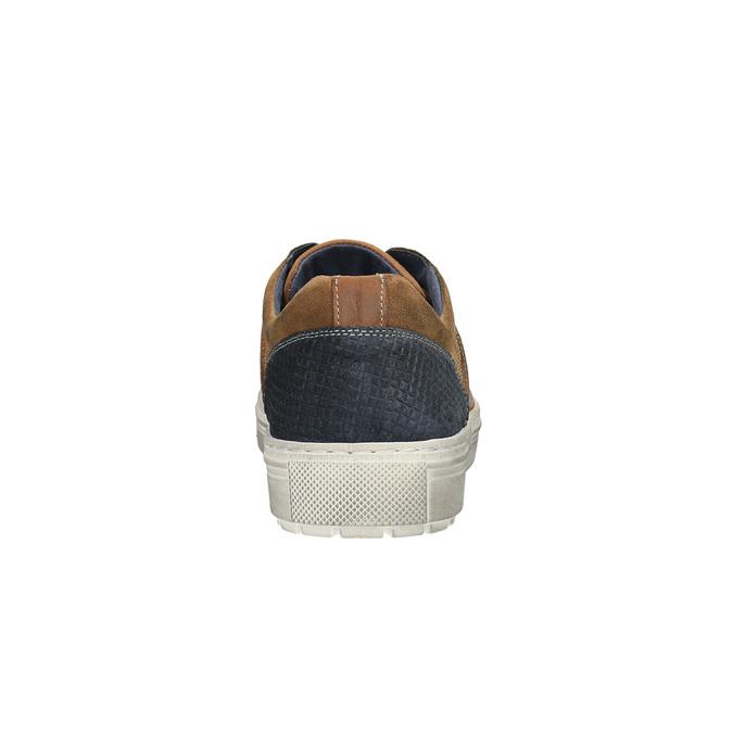Pánske kožené tenisky bata, hnedá, 826-3651 - 17