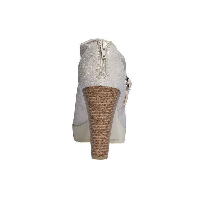Členkové čižmy s výraznou podrážkou bata, šedá, 799-8630 - 17