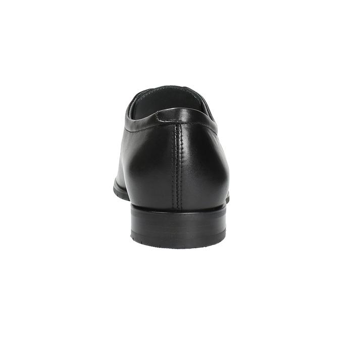Kožené poltopánky v Derby strihu bata, čierna, 824-6676 - 17