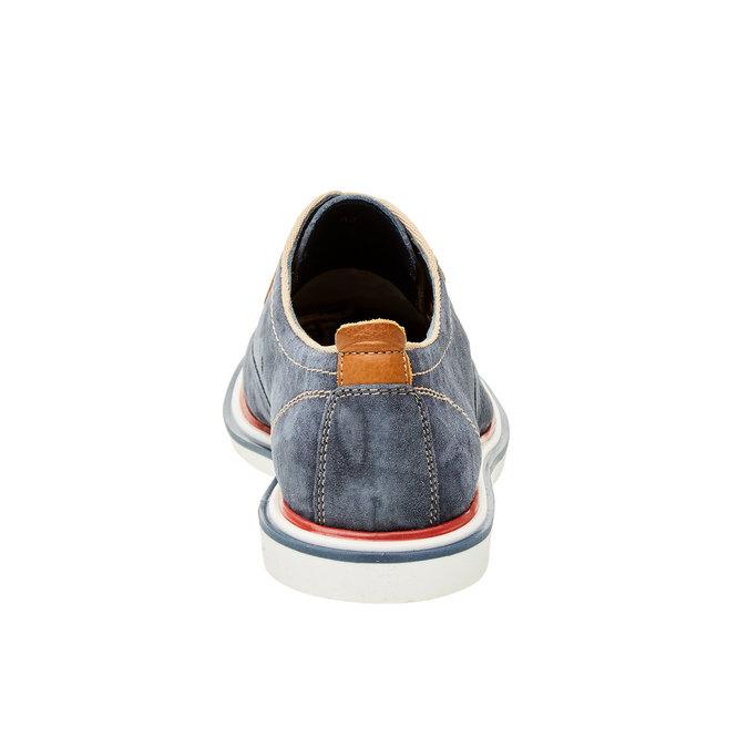 Pánske kožené poltopánky bata, modrá, 823-9814 - 17