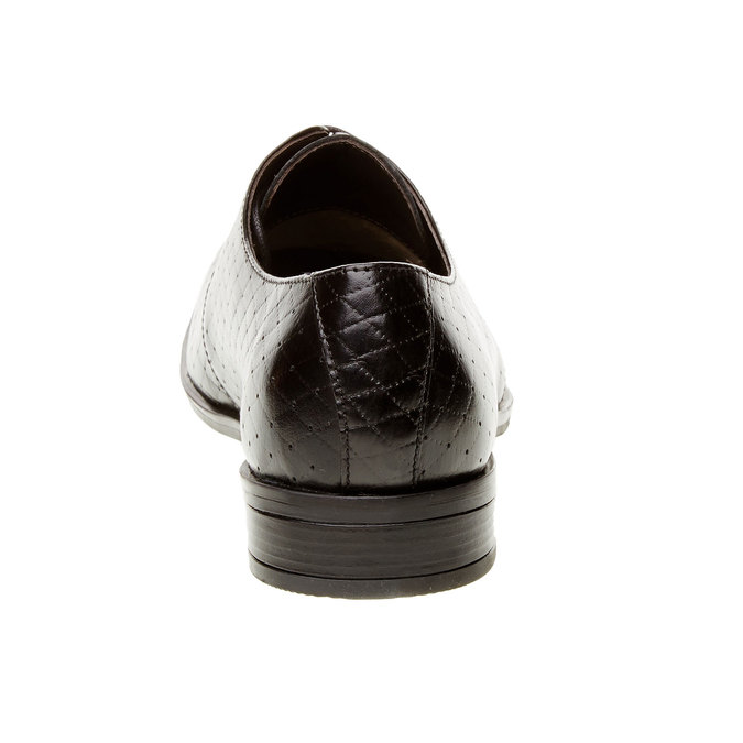 Kožené poltopánky s perforáciou bata, čierna, 824-6288 - 17