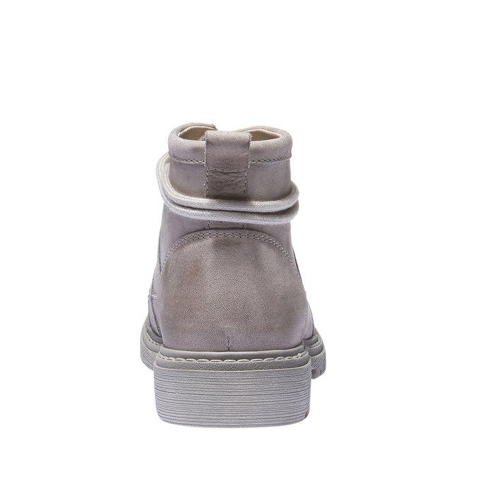 Kožená obuv s originálnymi šnúrkami weinbrenner, žltá, 596-8409 - 17
