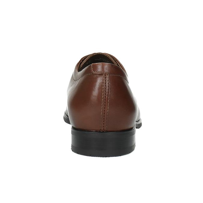 Kožené poltopánky v Derby strihu bata, hnedá, 824-4676 - 17