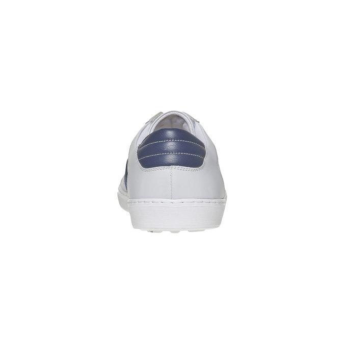 Biele kožené tenisky bata, biela, 844-1639 - 17