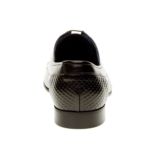 Kožené poltopánky s ozdobenou pätou conhpol, čierna, 824-6701 - 17