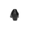 Kožené lodičky na nízkom podpätku bata, čierna, 624-6603 - 17