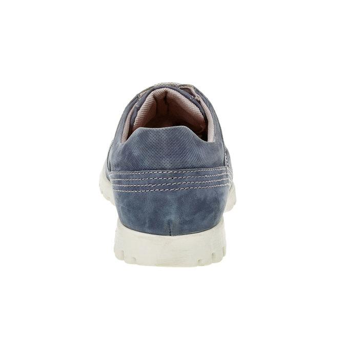 Ležérne kožené tenisky flexible, modrá, 846-9650 - 17