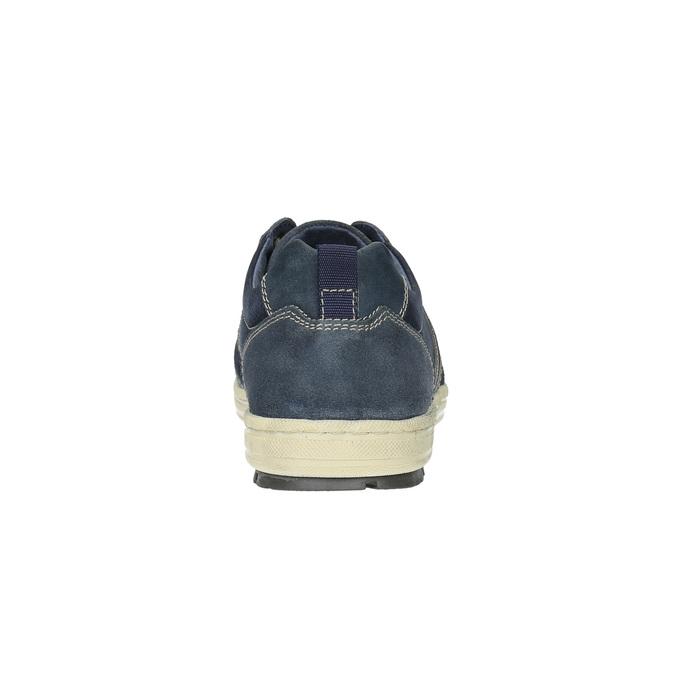 Pánske kožené tenisky bata, modrá, 826-9649 - 17
