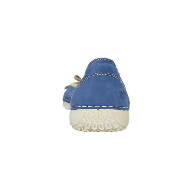 Ležérne kožené baleríny weinbrenner, modrá, 526-9503 - 17