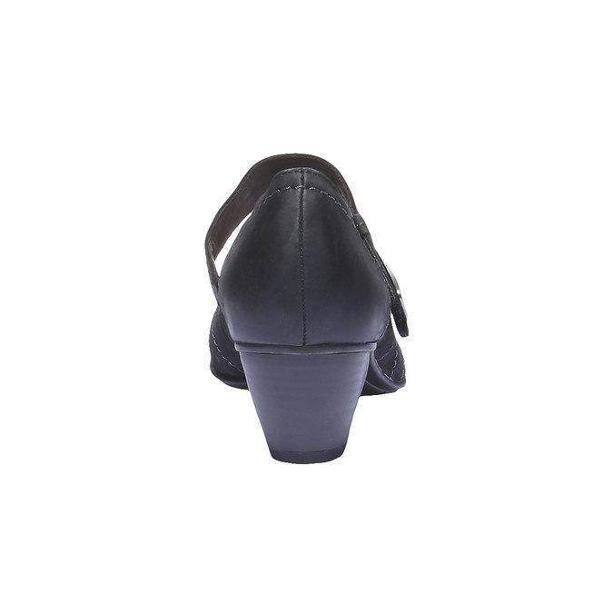 Kožené Mary Janes bata, čierna, 626-6100 - 17