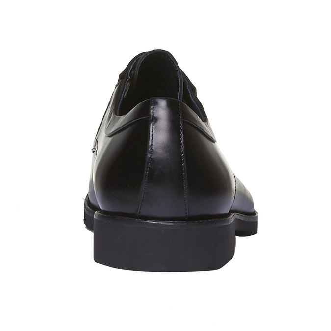Kožené poltopánky v štýle Derby bata, čierna, 824-6398 - 17