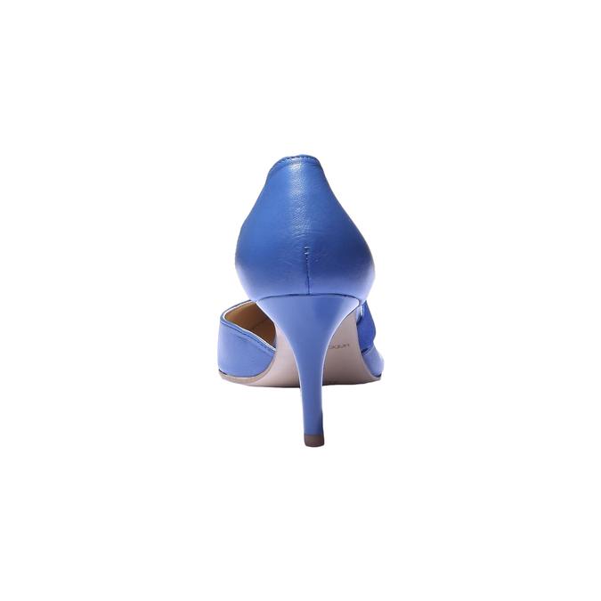 Elegantná kožená remienková obuv bata, modrá, 724-9648 - 17