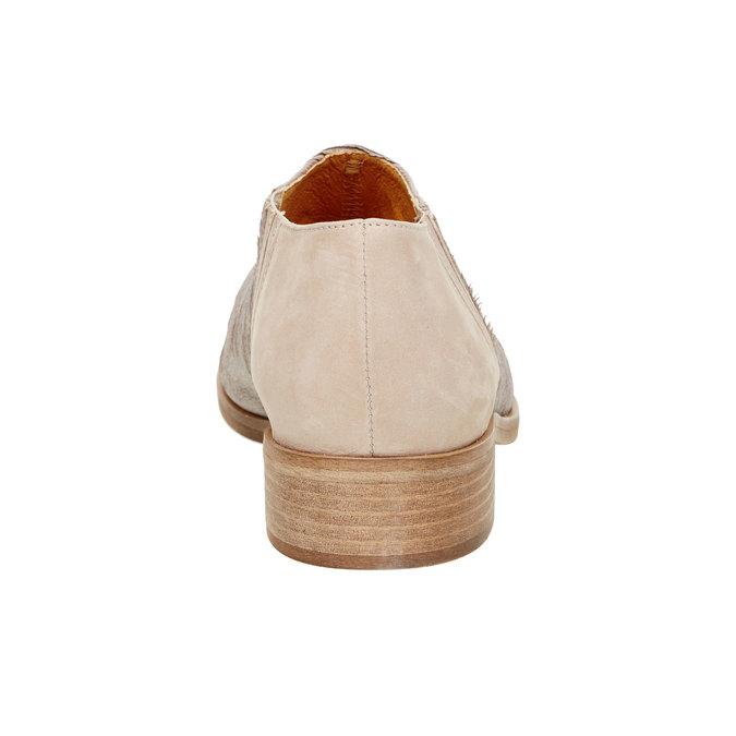 Kožené poltopánky s pružením bata, šedá, 596-2111 - 17