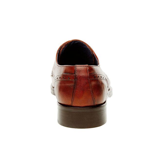 Pánske kožené poltopánky so zdobením bata, hnedá, 824-4809 - 17