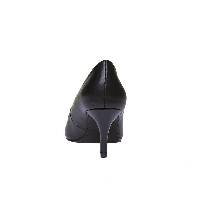 Lodičky s guľatou špičkou bata, čierna, 621-6387 - 17