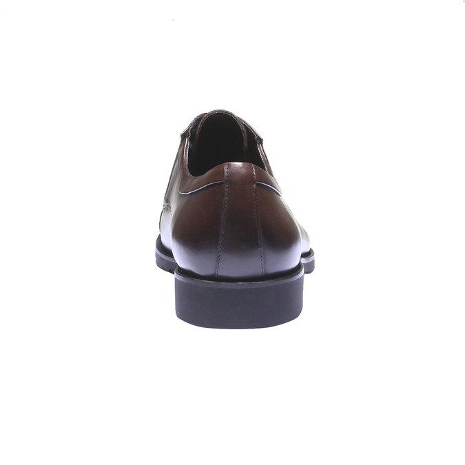 Kožené poltopánky v Derby štýle bata, hnedá, 824-4398 - 17
