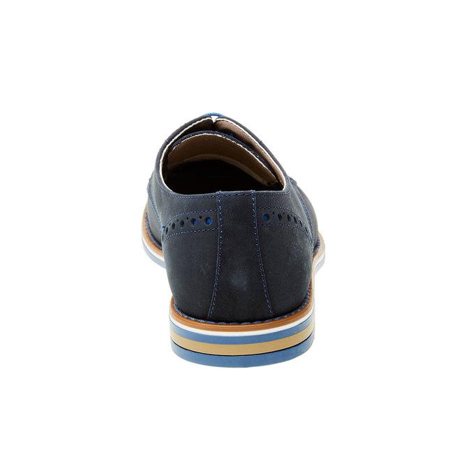 Kožené poltopánky s farebnou podrážkou bata, modrá, 826-9839 - 17