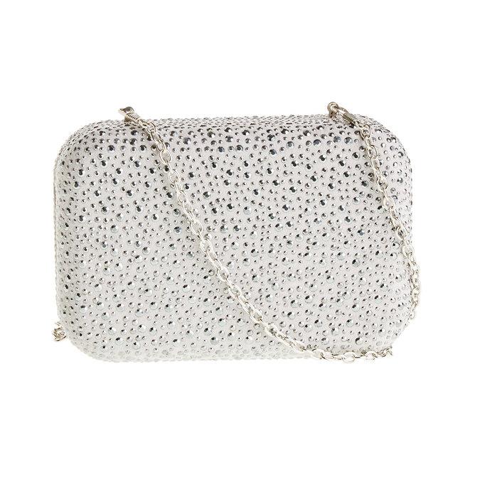 Listová kabelka v štýle Miniaudière bata, šedá, 969-2350 - 26