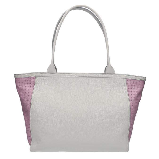 Kožená shopper kabelka bata, šedá, 964-2191 - 26