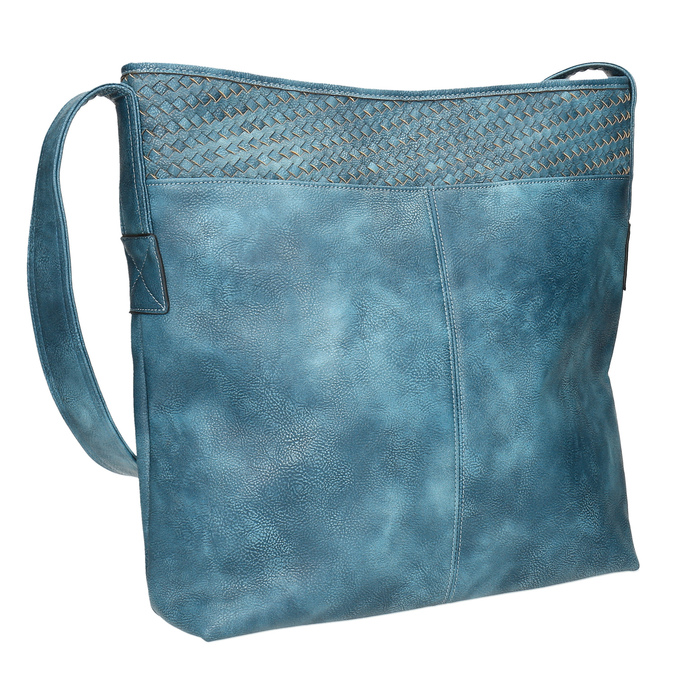 Priestorná modrá kabelka s dlhým uchom bata, modrá, 961-9600 - 13