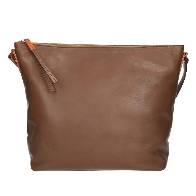 Kožená Crossbody kabelka weinbrenner, hnedá, 964-4201 - 26