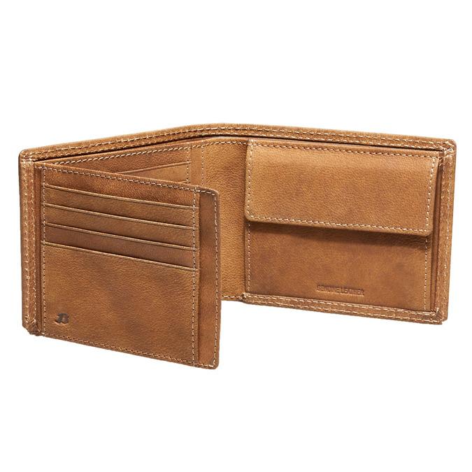 Pánská kožená peňaženka bata, hnedá, 944-3129 - 15