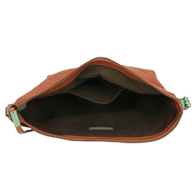 Kožená Crossbody kabelka weinbrenner, hnedá, 964-3201 - 15