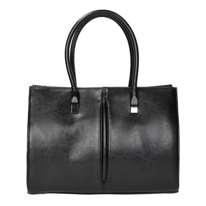 Čierna kabelka s pevným dnom bata, čierna, 961-6879 - 19
